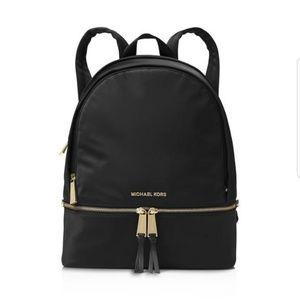 💖Michael Kors💖Rhea Large Black Nylon Backpack